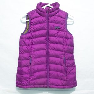 Patagonia Girls Puffer Vest Purple Size 12 Large